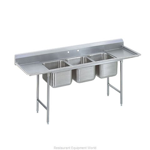 Advance Tabco 9-23-60-24RL-X Sink, (3) Three Compartment