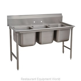 Advance Tabco 9-23-60 Sink 3 Three Compartment
