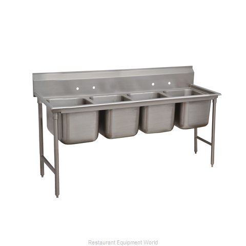 Advance Tabco 9-24-80 Sink, (4) Four Compartment