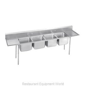 Advance Tabco 9-4-72-18RL-X Sink, (4) Four Compartment