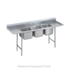 Advance Tabco 9-43-72-24RL-X Sink, (3) Three Compartment