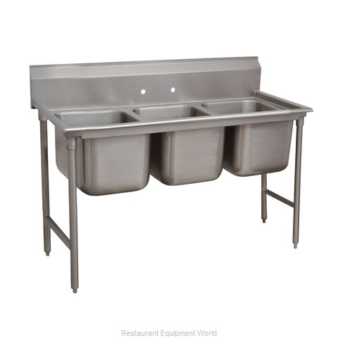 Advance Tabco 9-43-72 Sink 3 Three Compartment