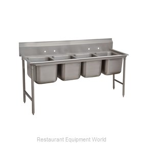 Advance Tabco 9-44-96 Sink 4 Four Compartment