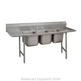 Advance Tabco 9-63-54-24RL Sink, (3) Three Compartment
