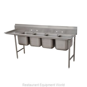 Advance Tabco 9-64-72-24L Sink, (4) Four Compartment
