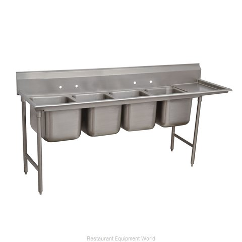 Advance Tabco 9-64-72-24R Sink 4 Four Compartment