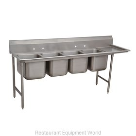 Advance Tabco 9-64-72-24R Sink, (4) Four Compartment