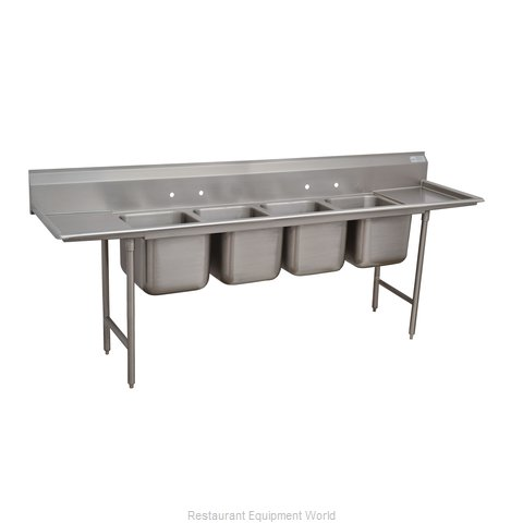 Advance Tabco 9-64-72-36RL Sink 4 Four Compartment