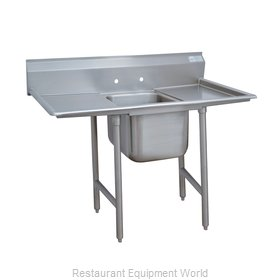 Advance Tabco 93-1-24-24RL One Compartment, Two Drainboard Sink