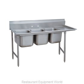Advance Tabco 93-43-72-24R Three Compartment, One Drainboard Sink
