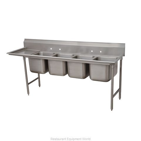 Advance Tabco 93-44-96-36L Sink, (4) Four Compartment