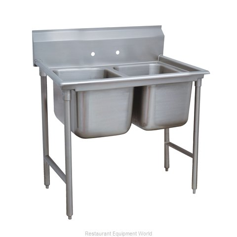 Advance Tabco 93-62-36 Sink, (2) Two Compartment