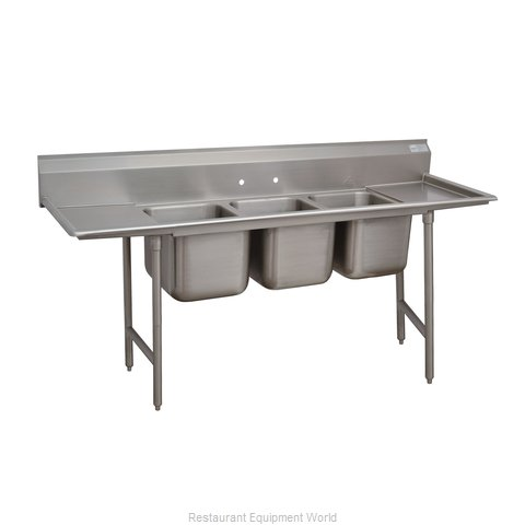 Advance Tabco 93-63-54-36RL Three Compartment, Two Drainboard Sink