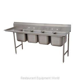 Advance Tabco 93-64-72-36L Sink, (4) Four Compartment