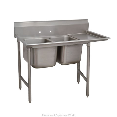 Advance Tabco 93-82-40-18R Two Compartment, One Drainboard Sink