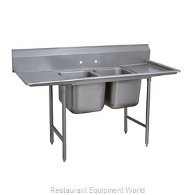 Advance Tabco 93-82-40-18RL Two Compartments, Two Drainboards Sink