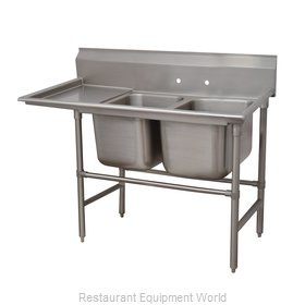 Advance Tabco 94-22-40-24L Sink 2 Two Compartment