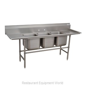 Advance Tabco 94-3-54-18RL Sink 3 Three Compartment
