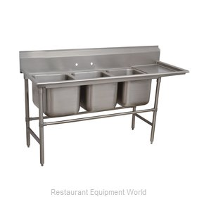 Advance Tabco 94-3-54-24R Sink 3 Three Compartment