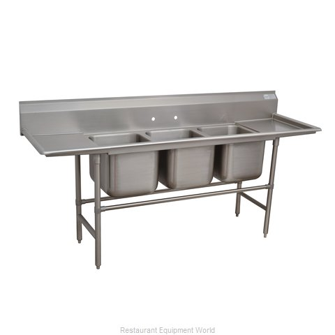 Advance Tabco 94-3-54-24RL Sink 3 Three Compartment