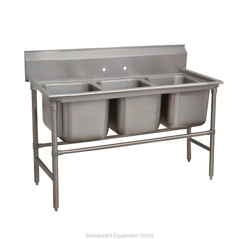 Advance Tabco 94-3-54 Sink 3 Three Compartment
