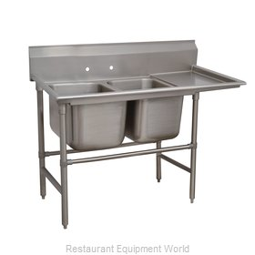 Advance Tabco 94-42-48-24R Sink 2 Two Compartment