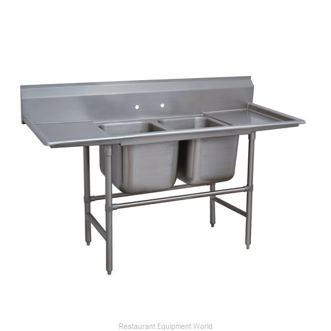 Advance Tabco 94-42-48-24RL Sink, (2) Two Compartment