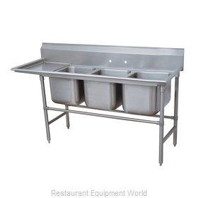 Advance Tabco 94-43-72-24L Sink, (3) Three Compartment