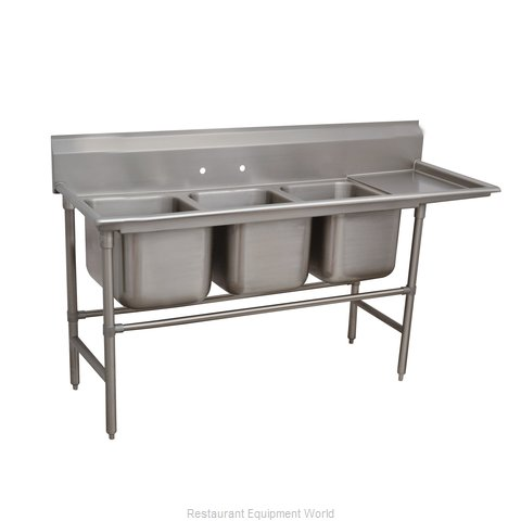 Advance Tabco 94-43-72-24R Sink 3 Three Compartment