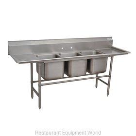 Advance Tabco 94-43-72-36RL Sink, (3) Three Compartment