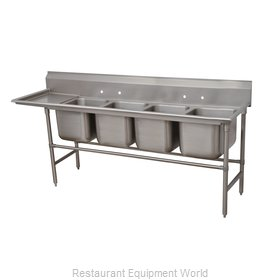 Advance Tabco 94-44-96-24L Sink 4 Four Compartment