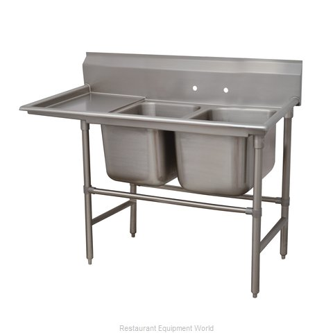 Advance Tabco 94-62-36-24L Sink 2 Two Compartment