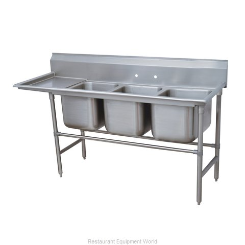 Advance Tabco 94-63-54-36L Sink, (3) Three Compartment