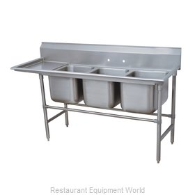 Advance Tabco 94-63-54-36L Sink 3 Three Compartment