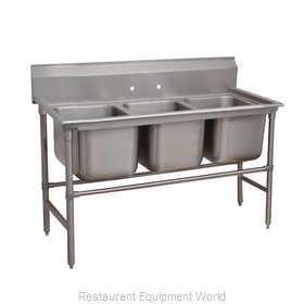 Advance Tabco 94-63-54 Sink 3 Three Compartment