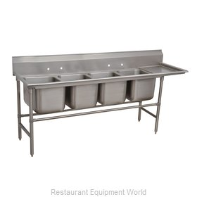 Advance Tabco 94-64-72-24R Sink 4 Four Compartment