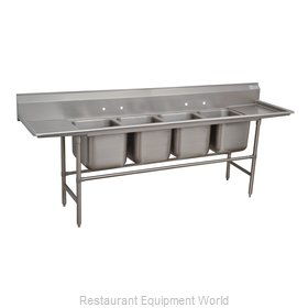 Advance Tabco 94-64-72-24RL Sink 4 Four Compartment