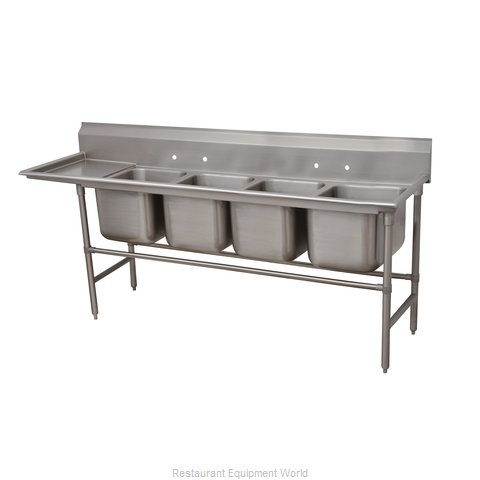 Advance Tabco 94-64-72-36L Sink 4 Four Compartment