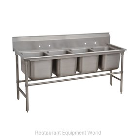 Advance Tabco 94-64-72 Sink 4 Four Compartment