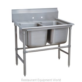 Advance Tabco 94-82-40 Sink 2 Two Compartment