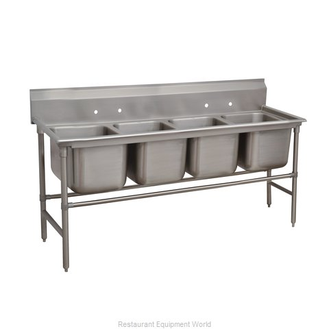 Advance Tabco 94-84-80 Sink, (4) Four Compartment