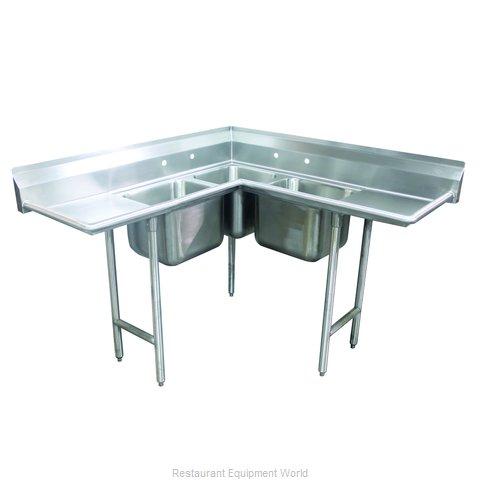 Advance Tabco 94-K4-24D Sink, (3) Three Compartment