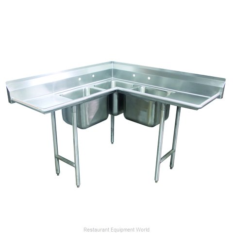 Advance Tabco 94-K8-30D Sink, (3) Three Compartment