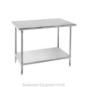 Advance Tabco AG-367 Work Table 84 Long Stainless steel Top