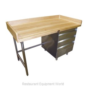 Advance Tabco BST-365R Work Table, Bakers Top