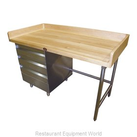 Advance Tabco BST-368L Work Table, Bakers Top