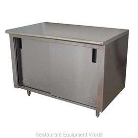 Advance Tabco CB-SS-3010M Work Table, Cabinet Base Sliding Doors