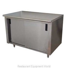 Advance Tabco CB-SS-305 Work Table, Cabinet Base Sliding Doors