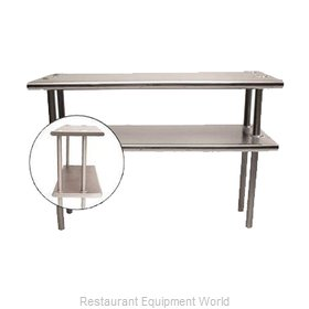 Advance Tabco CDS-18-48 Overshelf, Table-Mounted