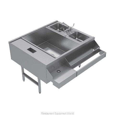 Advance Tabco CR-42X36-7-L Underbar Ice Bin/Cocktail Station, Pass-Thru Combo